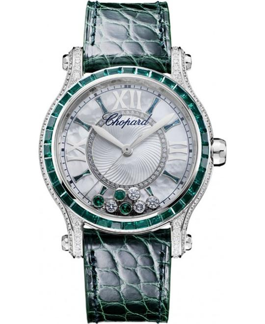 CHOPARD 274891-1004 HAPPY SPORT DIAMONDS & RUBIES WATCH 36MM