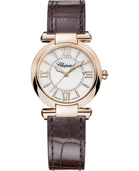 Chopard Imperiale 384238-5001 18k And Amethysts 28mm