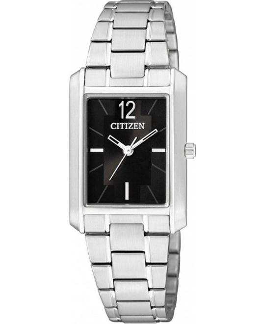 Citizen Black Dial Stainless Women's Watch 27mm