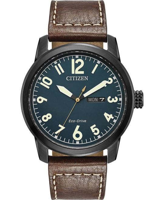 CITIZEN Chandler Dark Blue Brown Watch 42mm