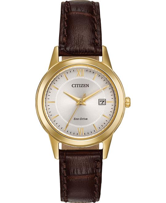 Citizen Corso Japanese Brown Watch 28mm