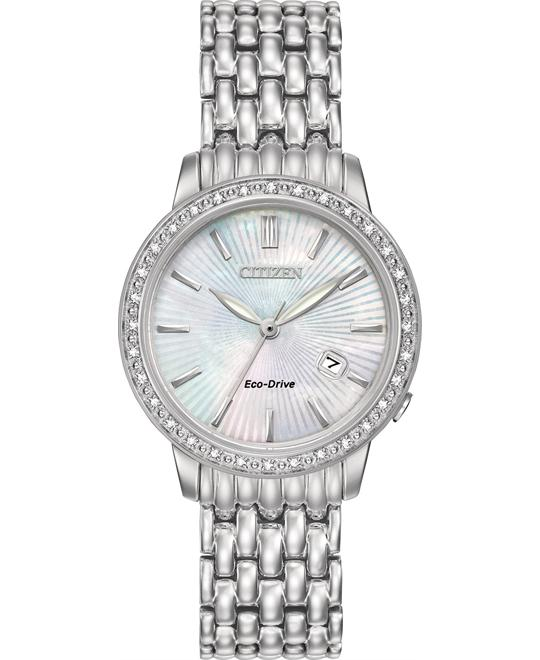 CITIZEN Diamond Eco-Drive Mother of Pearl Watch 29mm