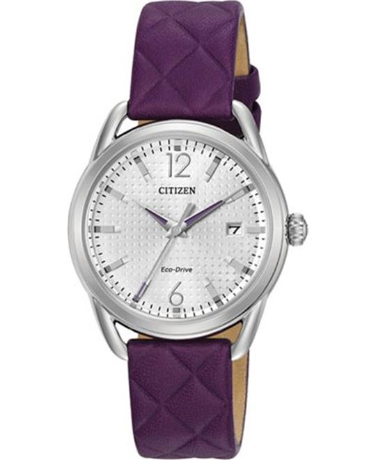 Citizen Drive Purple Quilted Watch 34mm