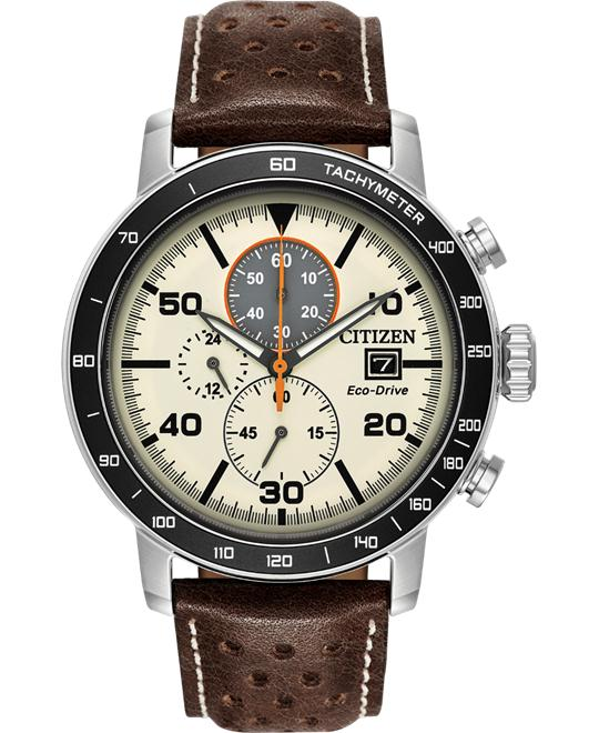 CITIZEN ECO-DRIVE BRYCEN LIGHT BROWN 44MM