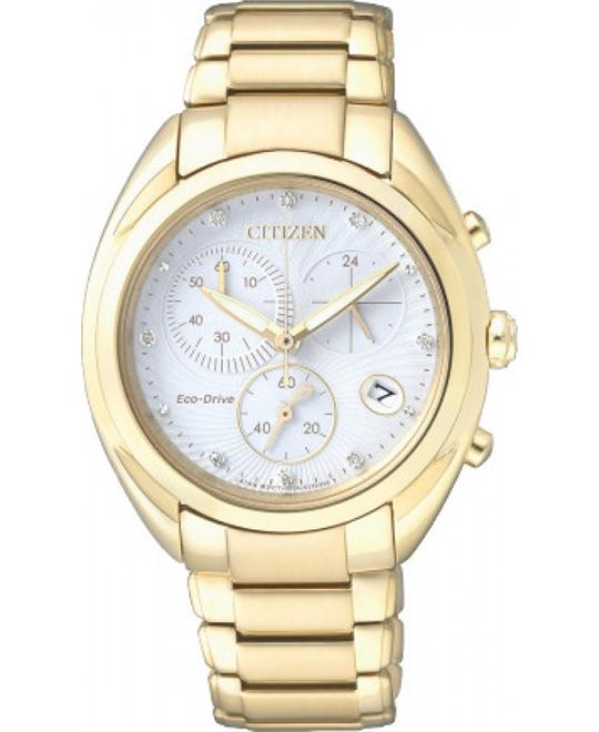 CITIZEN Eco-Drive Chronograph Ladies Watch 34.5mm