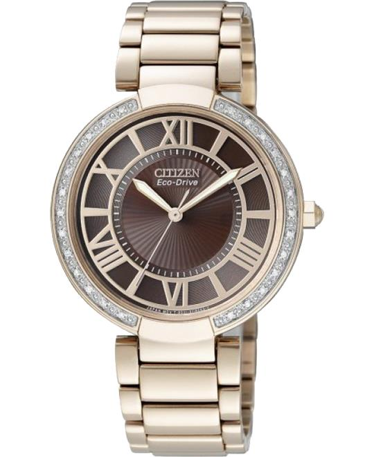 Citizen Orsay Eco-Drive Rose Gold Watch 34mm