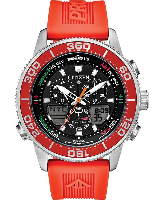 Citizen Promaster Sailhawk Analog-Digital Orange Polyurethane 44
