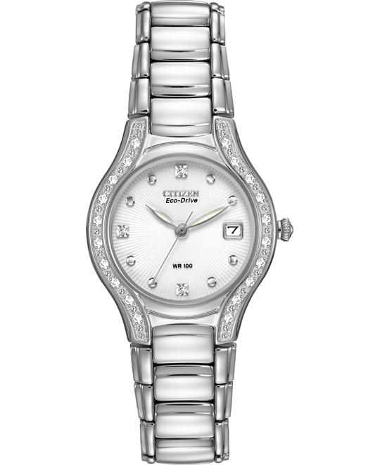 Citizen Women's Silhouette Diamond Eco Drive Watch, 26mm