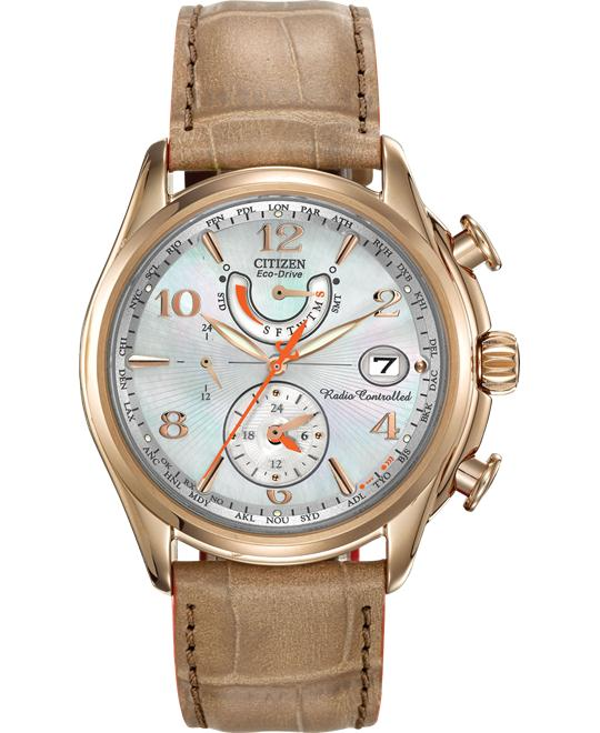Citizen Women's World Time A-T Eco-Drive Camel Watch, 38mm