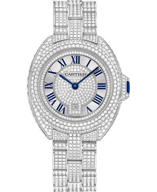 Cartier Clé De Cartier HPI00980 White Diamonds Watch 31