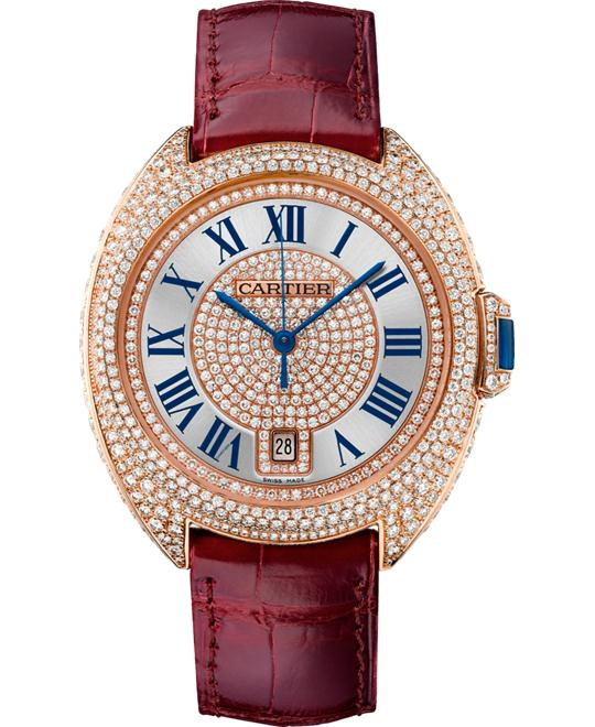 DONG HO NAM CARTIER  CLÉ DE WJCL0037 18K PINK GOLD DIAMONDS 40MM