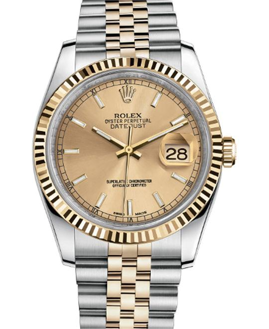 DATEJUST 116233-0151 CHAMPAGNE INDEX JUBILEE WATCH 36MM