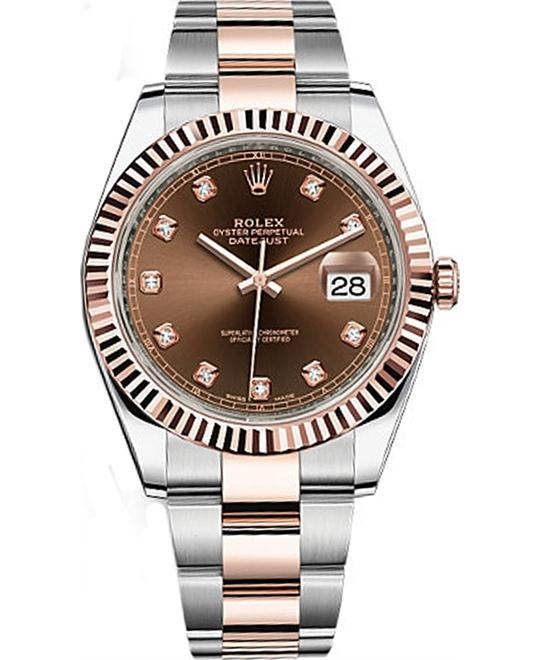 Datejust 41 126331 0003 Chocolate Diamond 18K