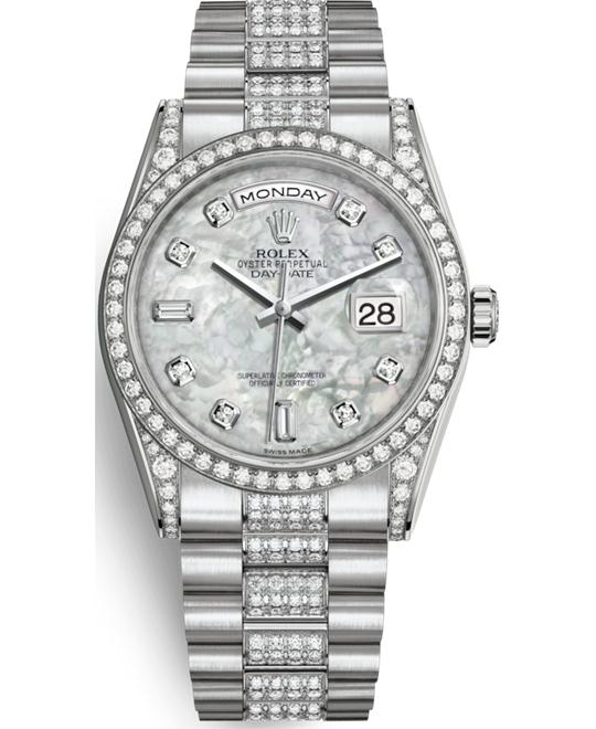 DAY-DATE 118389 White Gold Diamonds 36