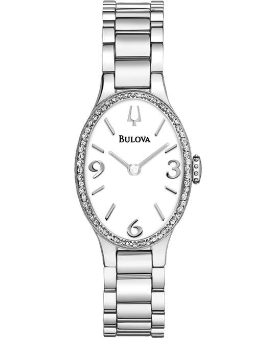 đồng hồ Bulova Diamond Collection SS Watch 21mm