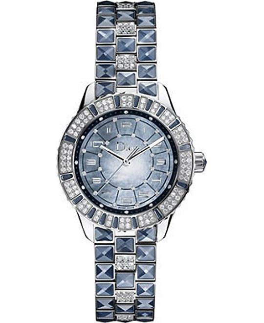 Christian Dior Christal CD113510M001 Blue Diamonds Automatic 33