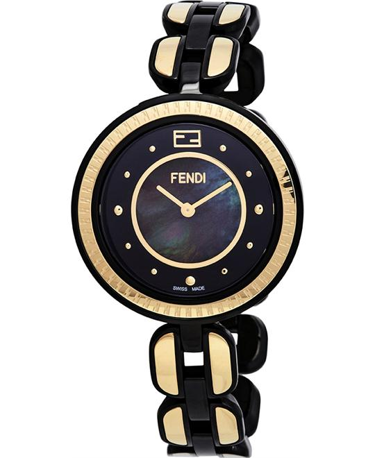 FENDI BLACK F375131500 MOTHER OF PEARL DIAL 36MM
