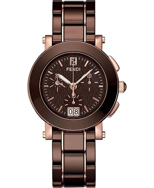 Fendi Chrono F674120 Ceramic Dress Watch 38MM