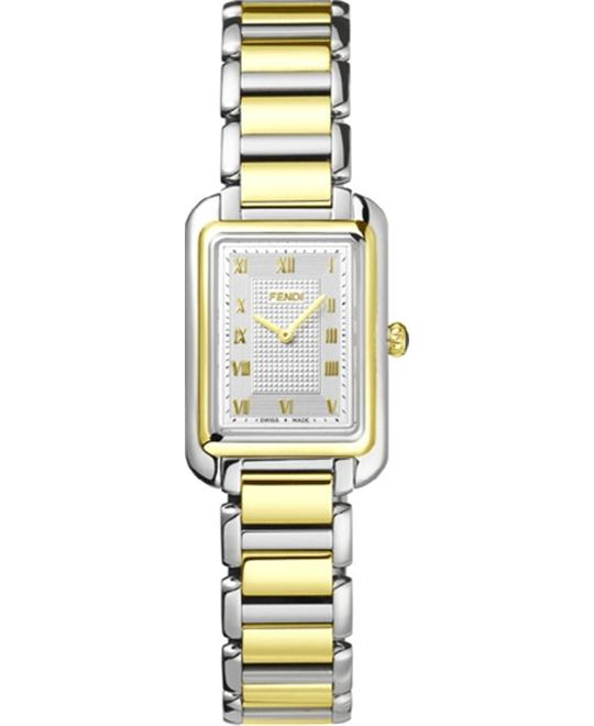 FENDI CLASSICO F701124000 SILVER DAIL WATCH 20x30MM
