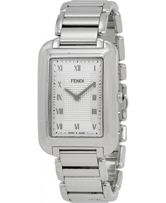 FENDI CLASSICO SILVER F701016000 MEN'S  WATCH 31x46.5MM