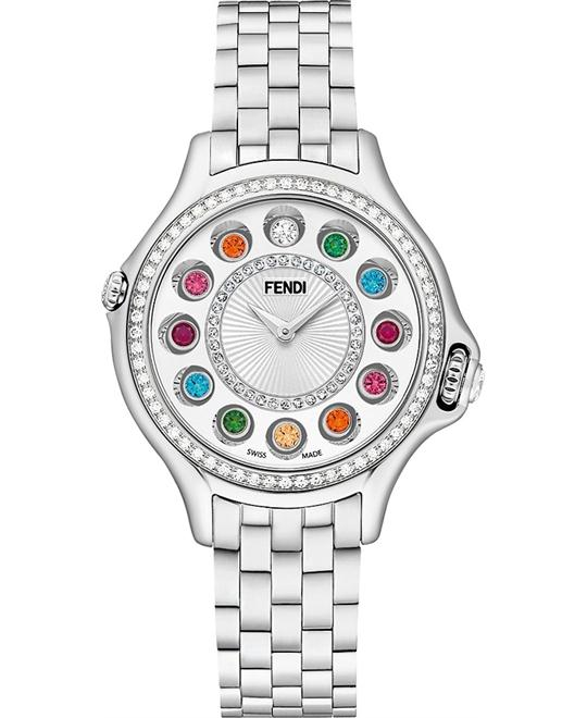 Fendi Crazy F107024000B2T05 Carats Diamond 33mm