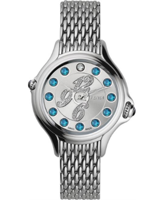 MSP: 82374 Fendi Crazy Carats FOR905GGGQEL Diamond Watch