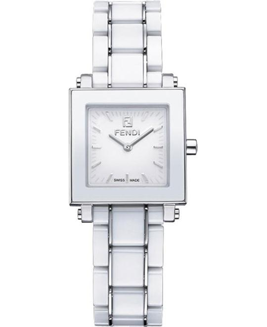 Fendi F622240 Ceramic Analog White Watch 30mm