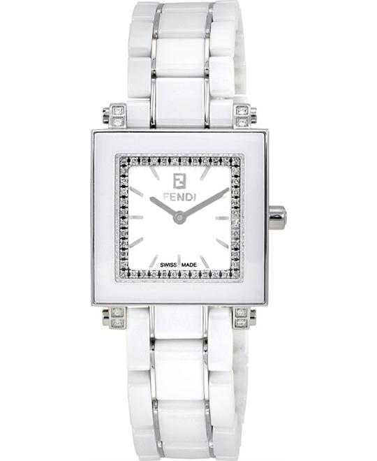 Fendi F622240DDC Ceramic Diamond Watch 25x25mm