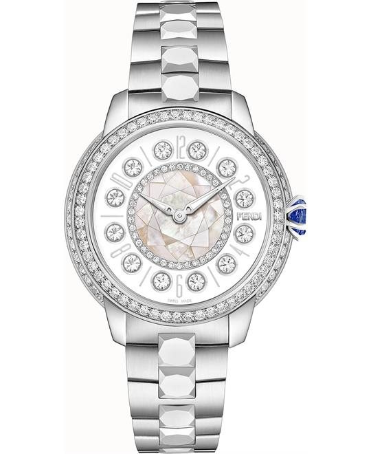 Fendi Ishine FOW808A12EF10RB Diamonds Watch 33mm