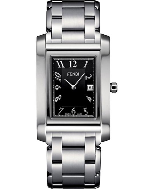 Fendi Loop F775110 Large Square Black Dial Watch 32mm