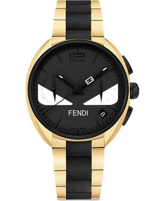 FENDI MOMENTO BUGS BLACK F215411400 WHITE BUG EYES 40MM