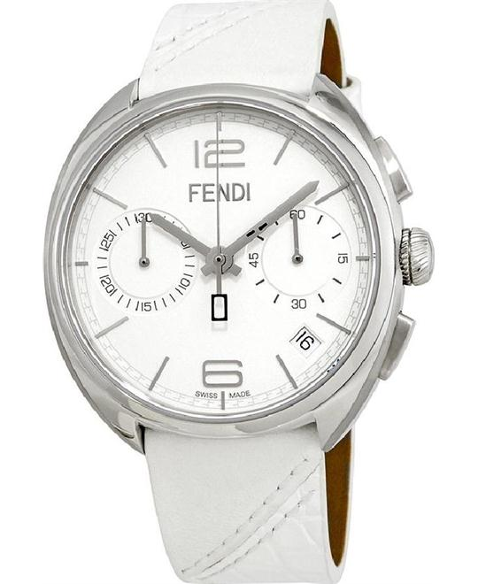 FENDI MOMENTO F212014041 CHRONOGRAPH WHITE DIAL WATCH 40MM