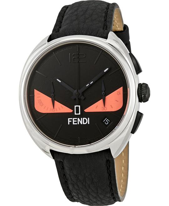 FENDI MOMENTO F214011711 CHRONOGRAPH BLACK WITH PINK BUG EYES MEN'S 40MM