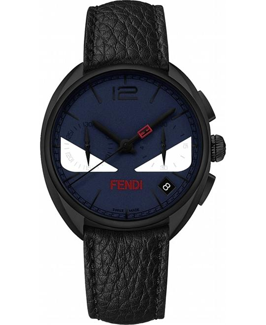 FENDI MOMENTO F214613411 CHRONOGRAPH DARK WATCH 40MM