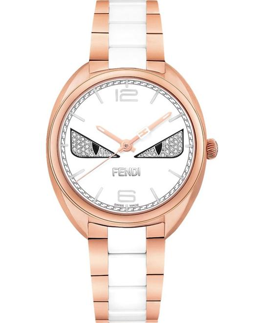 đồng hồ Fendi Momento F216534004D3 Diamond Bugs Ceramic Watch 34mm