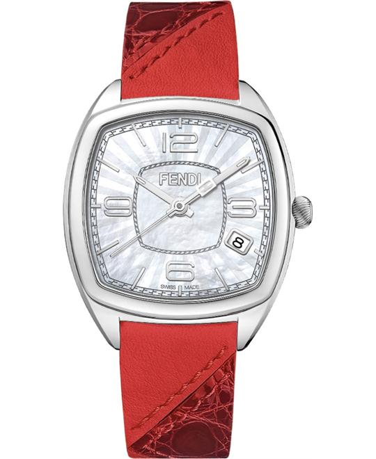 FENDI MOMENTO F220034573 MOTHER OF PEARL DIAL  31.5x32MM