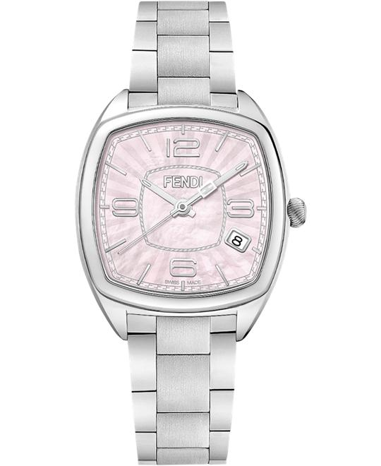 FENDI MOMENTO F221037500 PINK WATCH 31.5x32MM