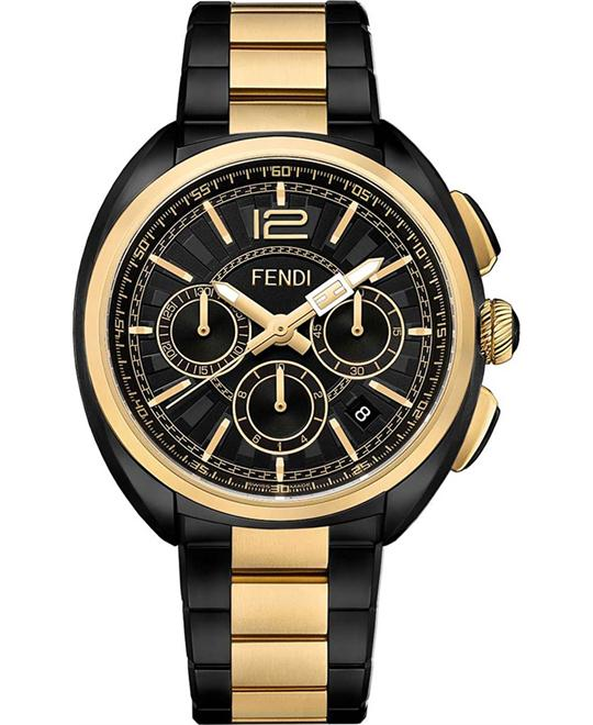FENDI MOMENTO F231711000 CHRONOGRAPH BLACK DIAL 46MM