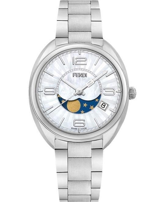 FENDI MOMENTO F232034500 MOONPHASE WATCH 34MM