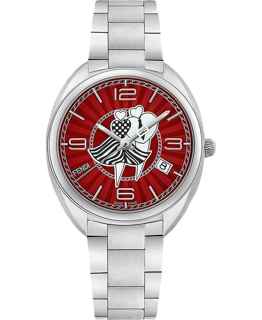 FENDI MOMENTO F233037300 LOVERS RED DIAL WATCH 34MM