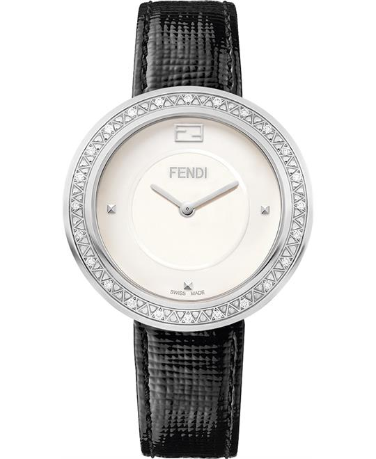 Fendi My Way F350034011b0 Diamond Watch 36mm