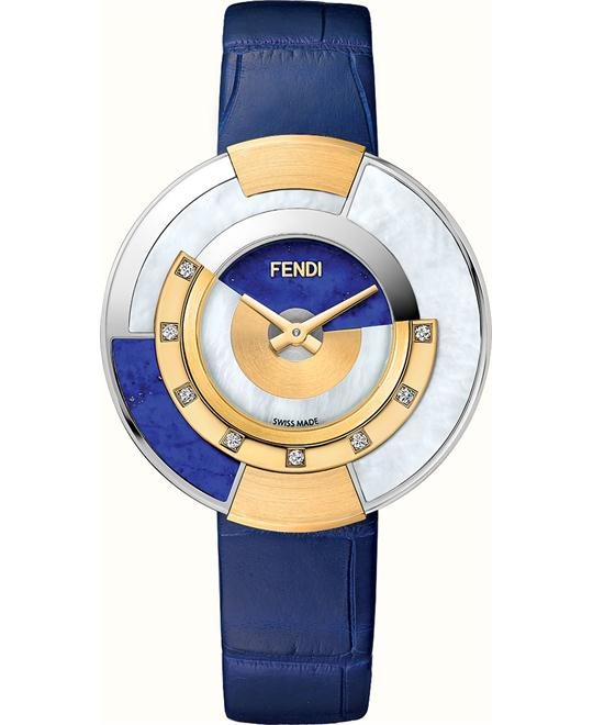 FENDI POLICROMIA FOR448SZYF07S2 DIAMONDS WATCH 38MM