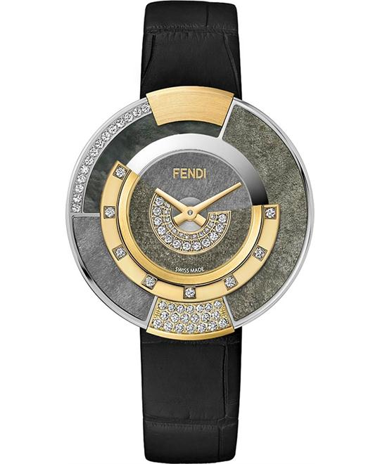FENDI POLICROMIA FOR450SZWF07S6 DIAMONDS WATCH 38MM