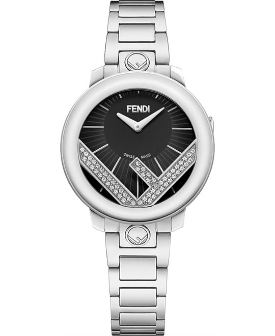 Fendi Run Away FOW802A5UFF0QA1 Diamond Watch 28mm