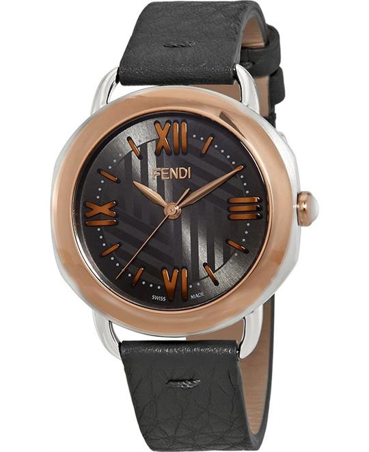 FENDI SELLERIA 8022360H0-GY ANTHRACITE WATCH 36MM