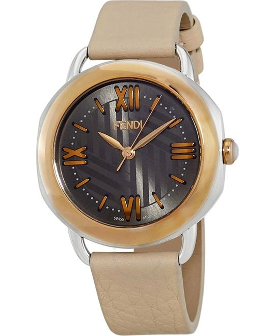 FENDI SELLERIA 8022360H0-PK ANTHRACITE SUNRAY WATCH 36MM