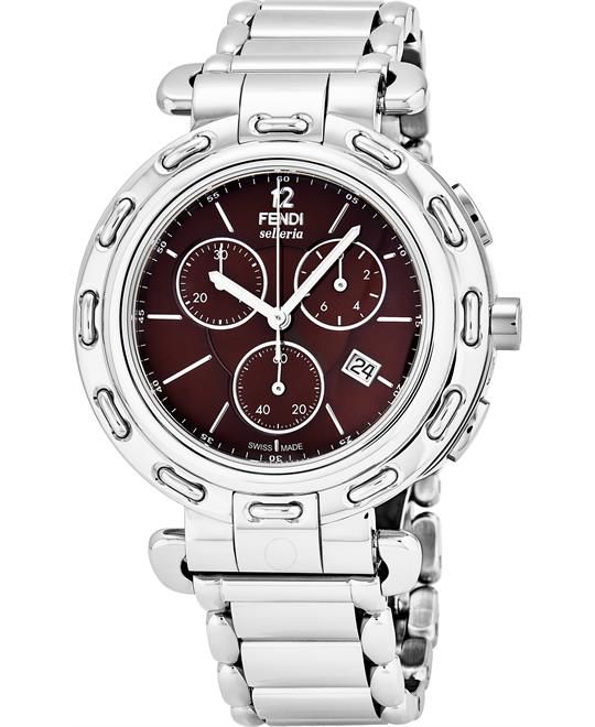 Fendi Selleria Chronograph Brown Watch 39mm