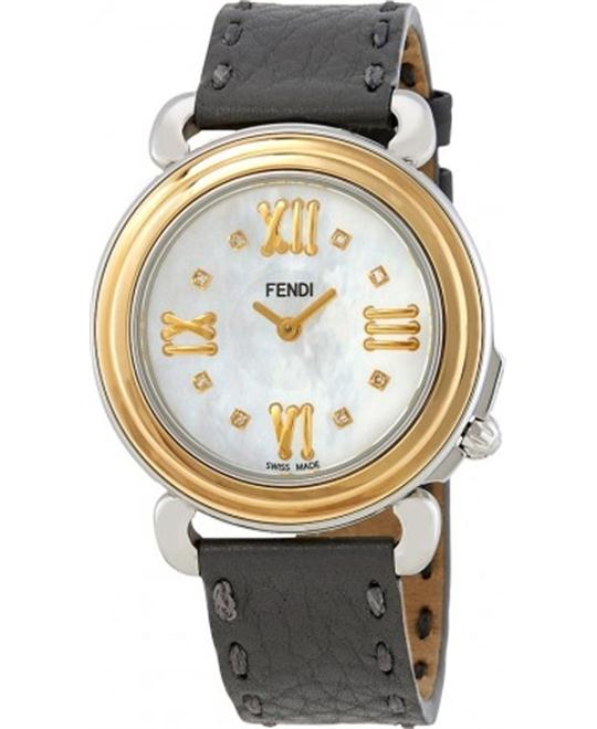 FENDI SELLERIA F8011345H0D1 WHITE MOTHER OF PEARL DIAL 37MM