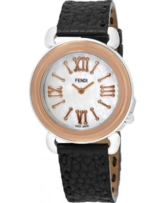 FENDI SELLERIA F8012345H0 MOTHER OF PEARL DIAL WATCH 37MM