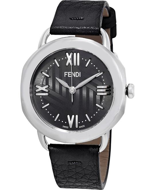 FENDI SELLERIA F8020360H0-BK ANTHRACITE SUNRAY WATCH 36MM